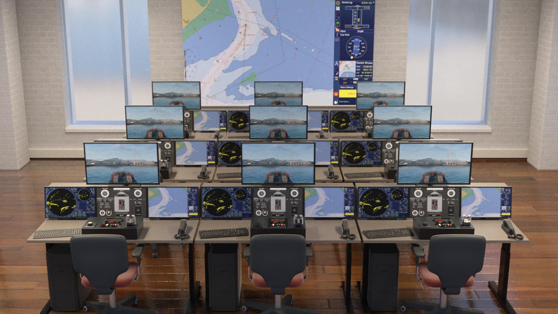 NAUTIS Maritime Simulator - Classroom Setup