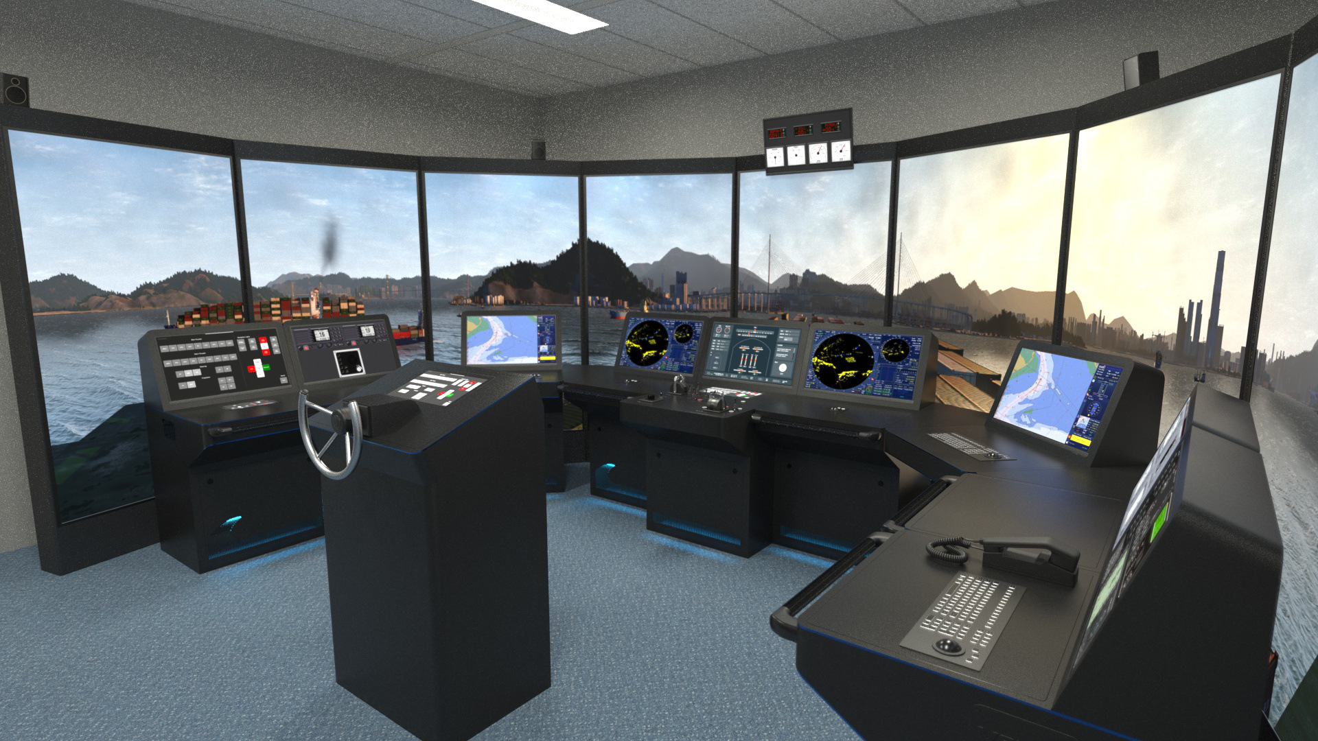 NAUTIS Maritime Simulator Full Mission Bridge New