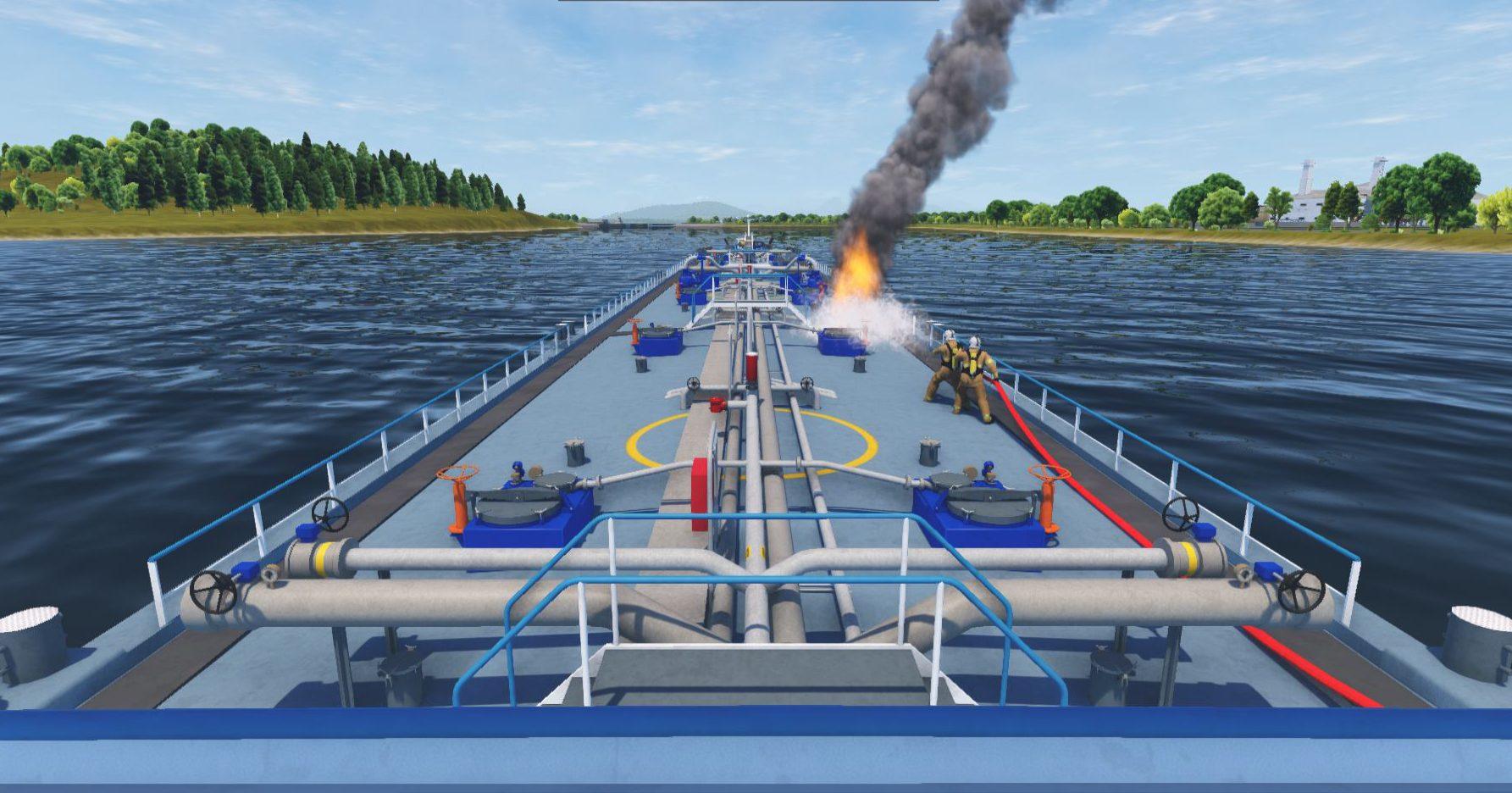 Response Simulator Vessel Fire