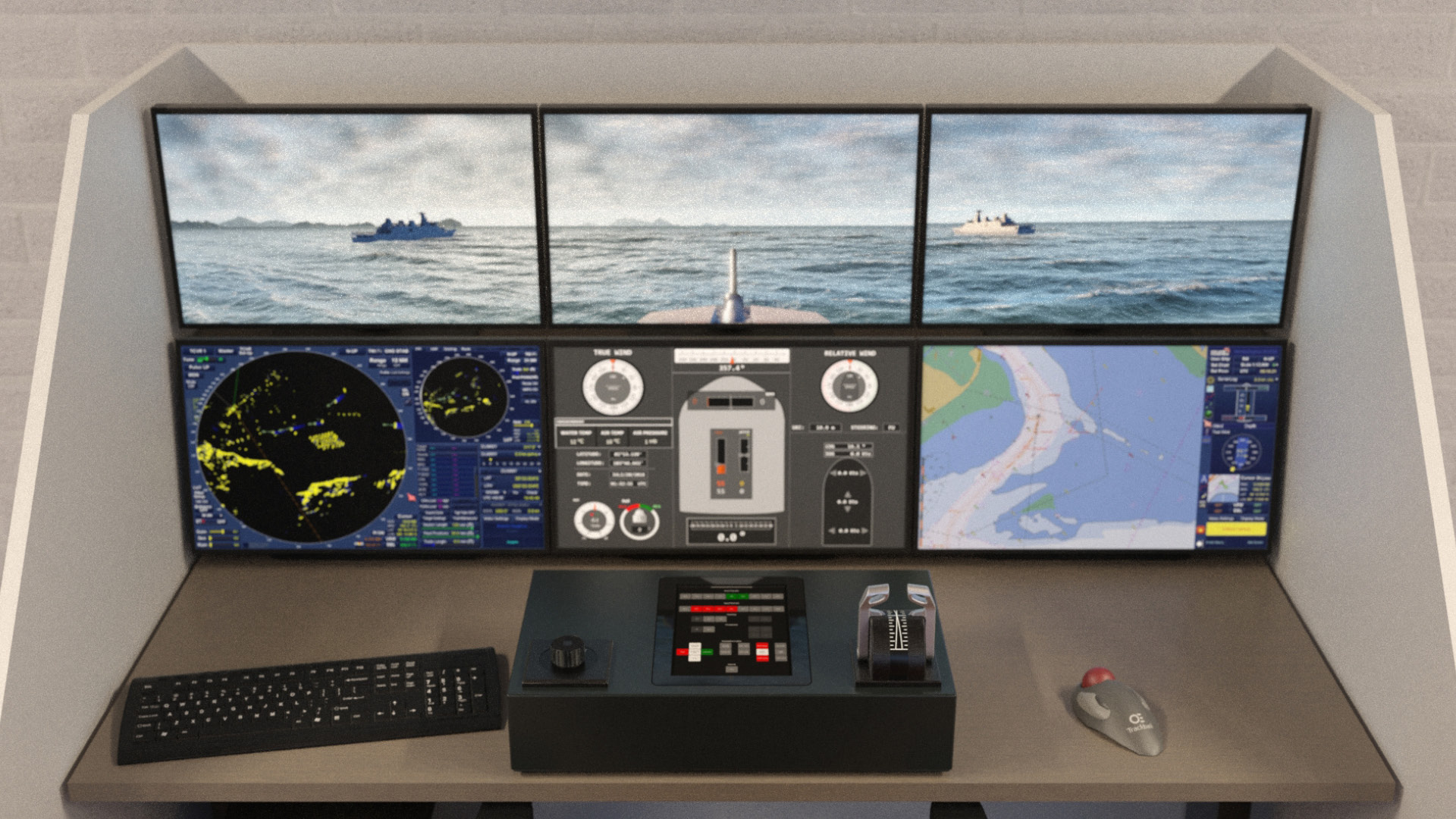 NAUTIS Maritime Simulator Naval Desktop