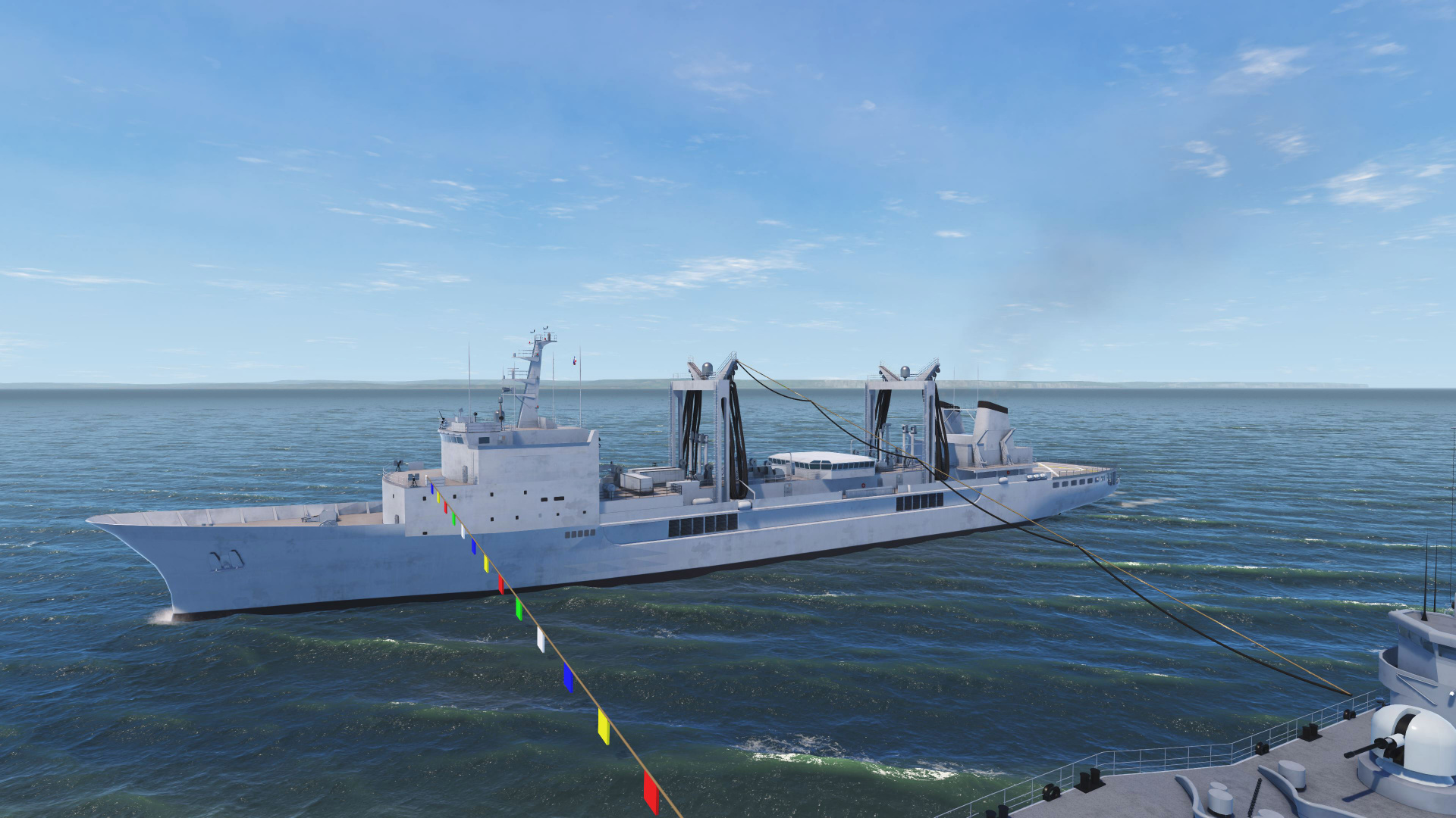 NAUTIS Naval Simulator - Replenishment at Sea RAS