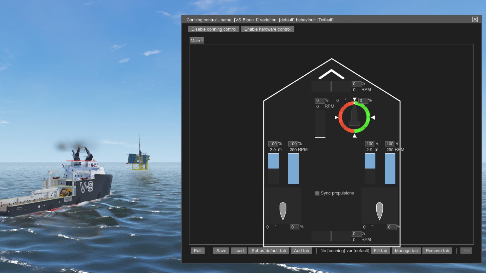 NAUTIS Maritime Simulator Conning Display