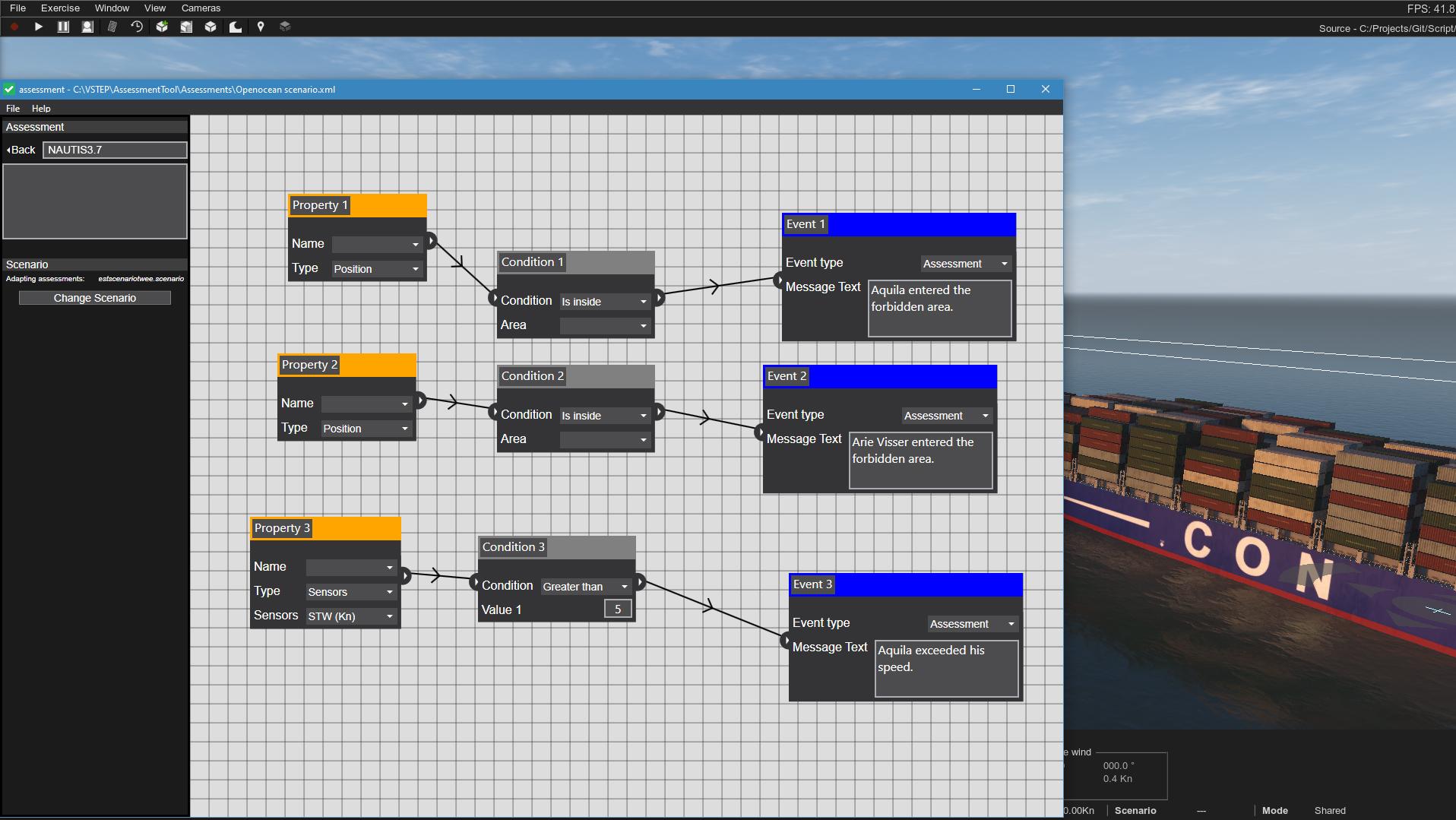 Visual logic editor NAUTIS